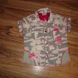 Легкая хлопчатая рубашка Некст на 8 лет рост 128 см