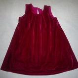 Велюровое платье 9-12мес
