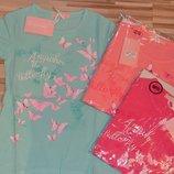Нежные футболочки для девочек - микс цветов