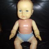 Винтажный шикарный кукла-пупс клеймо черепашка в ромбе Шильдкрет Schildkrot оригинал 40 см пищик