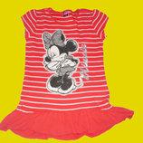 Брендовые вещи на девочек 0-12 лет Платье-Туника с Минни-Маусом,рост 146-164 см