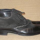 Необычайно красивые комбинированные кожаные ботинки - ,броги GioRgio 1958.hand made. Италия. 44 р.