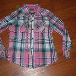 Стильная рубашка некст на 6-7лет
