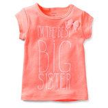 Нова футболка на дівчаток фірми Carters 2 років