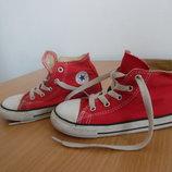 кроссовки кеди мокасины детские белые красные 17,5 см Converse оригинал