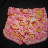 красивые летние махровые шорты на 5-7 лет, Цветочки