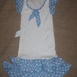 новое платье на 5-6 лет на 105-110 рост хлопок длина 63 см