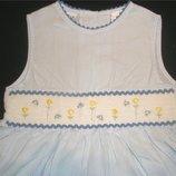 Сша. Нежно-Голубое платье с вышивкой, р.104-116