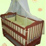 Распродажа Кроватка маятник матрас кокос набор постельного - 1399 грн. Новое