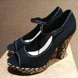 Стильные текстильные туфли American Rag. 26, 5 см