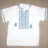 нова вишиванка для хлопчика синя вишивка вышиванка синяя вышивка