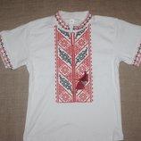 новая вышиванка для мальчика вышивка нитками на 5-6 и 7-8 лет