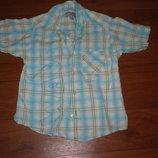 Классная легенькая рубашка на лето ребел на 4-5лет