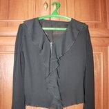 легкая черная блуза с длинными рукавами, размер 50