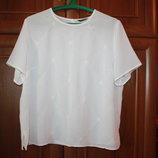 модная летняя белая блуза, размер 54-56