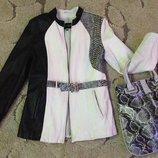Куртка кожаная с питоном 44-46 День и Ночь. натуральная кожа