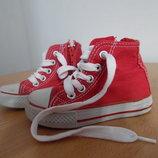 кроссовки кеди мокасины детские белые КРАСНЫЕ 14,6 см ZIPPY baby оригинал