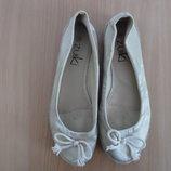 туфли сабо балетки женские эспадрильи 24,3 см стелька золотые ZUIKI как новые