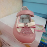 Демисезонные новые туфельки 26 р. 16 см. на девочку кожа туфли, туфлі, весна, осень, демі, осінь
