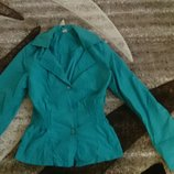 жакет куртка ветровка бирюза