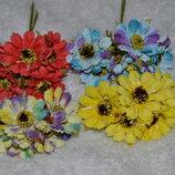 Цветы пучками для канзаши