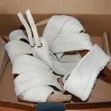 босоножки Zara, на высоком каблуке, с застежкой на щиколотке, белые, 40