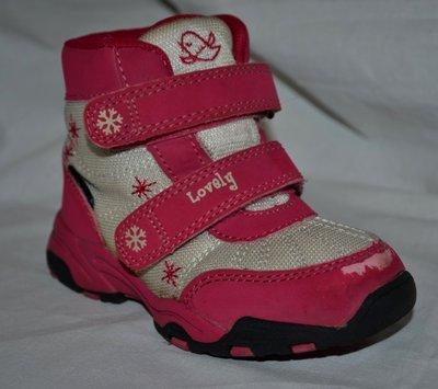 Обалденные термо ботинки сапоги зимние для девочки 24 размер