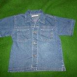 рубашка джинсовая на 4-5 лет