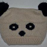 Шапочка шапка для девочки фирменная мишка панда мальчику или девочке