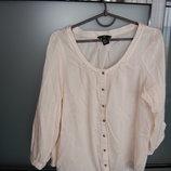 блузка H&M, с рукавом 3/4, розовая, М
