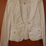 жакет, пиджак, белый, 36-38