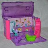 Mattel Polly Pocket домик чемодан магнитный игровой Полли Покет Салон