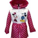Демисезонная куртка для девочки Микки Маусы в горошек