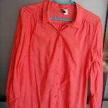 Рубашка, блузка, красная, H&M, М, 38
