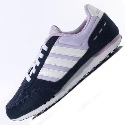 Женские кроссовки Adidas City Racer - синие сиреневый