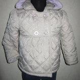 На 4-5 лет Теплая деми куртка NutMeg девочке