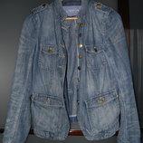 Куртка джинсовая тонкая голубая рванка GAP, р. ХS. S, M