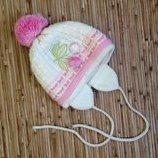 Новая теплая зимняя шапка двойная вязка для девочки 3-6 лет. Польша