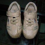 Кожаные кроссовки унисекс, кожа, размер 24