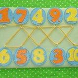 Игра-шнуровка Цифры .В наличии Ручная работа.