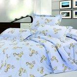 Постельное белье детское Ранфорс Жирафка 5507
