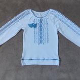 Новые вышиванки на девочек с длинным рукавом р.98-128см