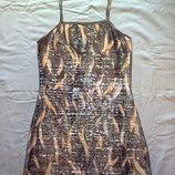 Блестящее серебристое платье,майка. Размер - S,M.