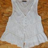 легкая майка, маечка, белая блуза, блузка, р-р 12-14 L