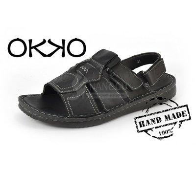Сандалии мужские кожаные черные OKKO, Турция