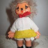 Кукла кошка 12см гдр