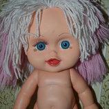 Виниловая коллекционная крупная кукла , пупс куколка чудик