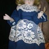 Маленькая винтажная коллекционная фарфоровая куколка кукла фарфор