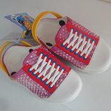 Сандалики 24-29 р. шлепки, шльопки, кроксы, резиновые, босоножки, сандалі, босоніжки, пляж, крокси