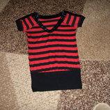 Удлиненная футболка под лосинки,размер С-М.